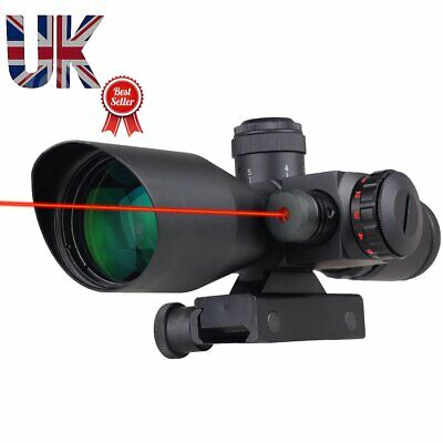 Rifle or Airsoft 2.5-10x40 Rifle Scope / Red/Green Dot Sight with Red Laserr, used for sale  United Kingdom