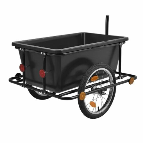 Bicycle Trailer Towing Trailer Transporting Basket 90 Litres Plastic Tub