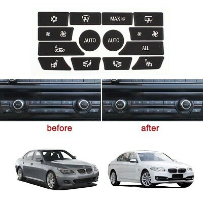 AC Control Ruined Button Repair Stickers Kit for 2009-2015 BMW 5 Series E60 F10