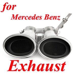 Endrohr Doppel Auspuff Blende für Mercedes Benz AUTO AMG C-Klasse W203 C240 C320