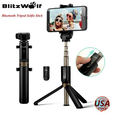 BlitzWolf BW-BS3 bluetooth Selfie Stick Tripod Remote Shutter For Camera Phone