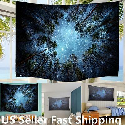Starry Sky Mandala Tapestry Indian Wall Hanging Bohemian Dorm Decor Hippie Throw
