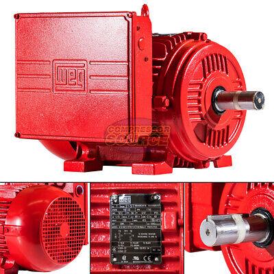 10 Hp Electric Motor 215t Frame 1740 Rpm 1 Phase Weg Farm Duty Tefc