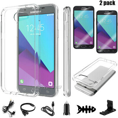 For Samsung Galaxy J3 2017/Prime/Emerge Clear Phone Case Cover Screen Protector
