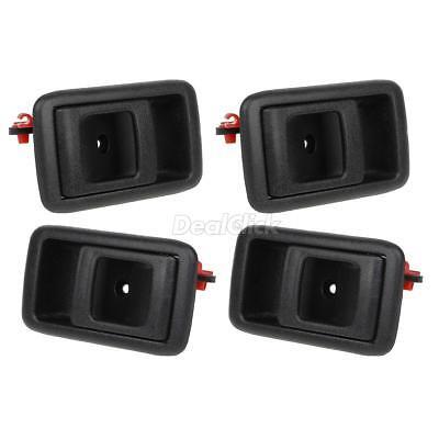 Set of 4 Black Interior Front Rear LH RH Door Handle Kit For 87-91 Toyota Camry 91 Lh Interior Door Handle