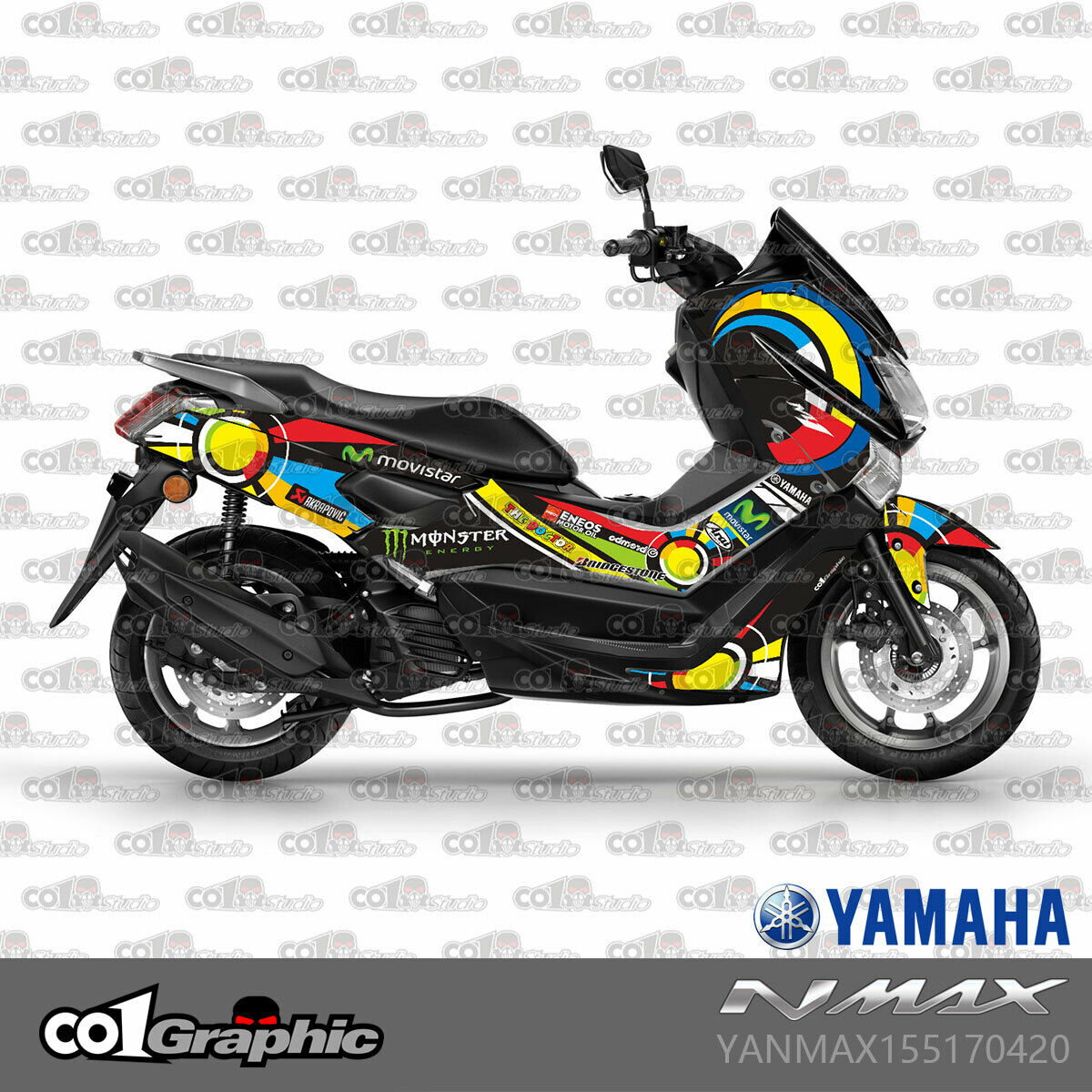 Details About Graphics Decals Stickers Full Kit For Yamaha Nmax 155 2015 2019