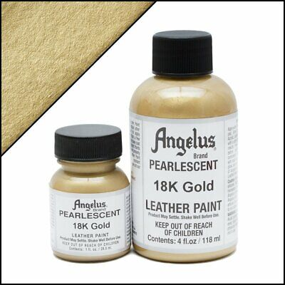 Angelus PEARLESCENT 18K Gold Acrylic Leather Paint 4 oz. ()