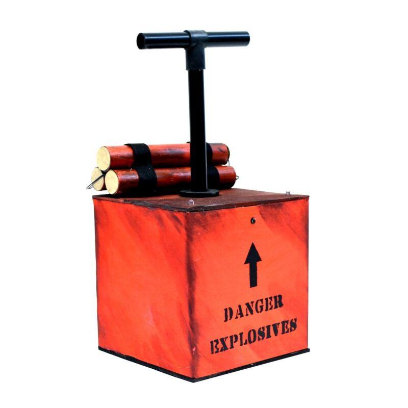Fake Dynamite Sticks TNT Detonator LED Light Box Halloween Decor Movie Film Prop