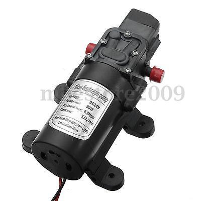 130psi Dc 24v 80w Mini Micro Diaphragm High Pressure Water Pump Automatic Switch