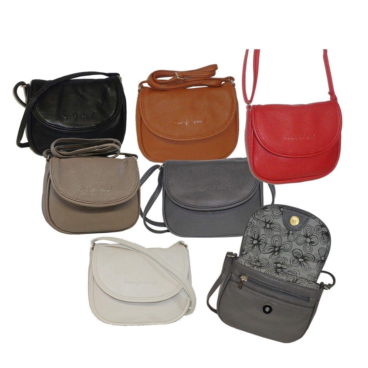 Jennifer Jones Kleine Damen Handtasche Umhängetasche Ausgehtasche halbrund BS0