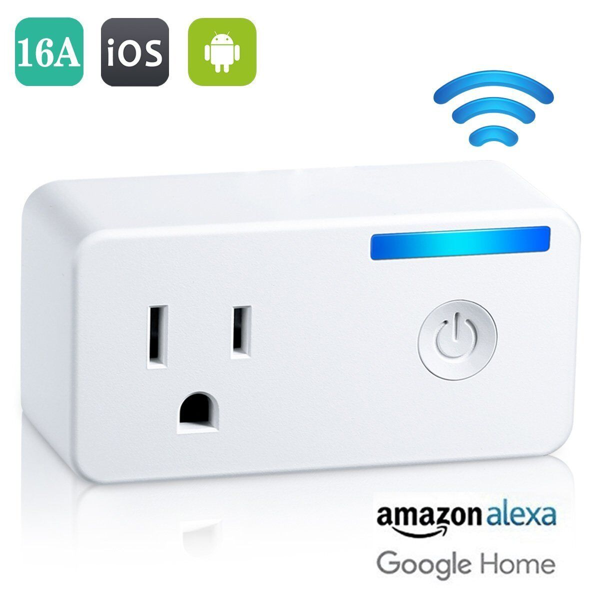 Wifi Smart Plug 16A Wireless Outlet Works with Amazon Alexa and Google Home