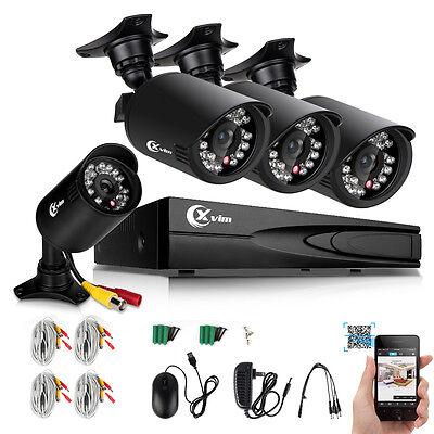 XVIM 4CH Home Security Camera System 1080N HDMI HD 4*720P Outdoor CCTV Video DVR