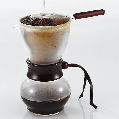 Hario Drip Pot Wood Neck Set Coffee Cloth Filter DPW-3 for 3-4 Cups Nell Drip