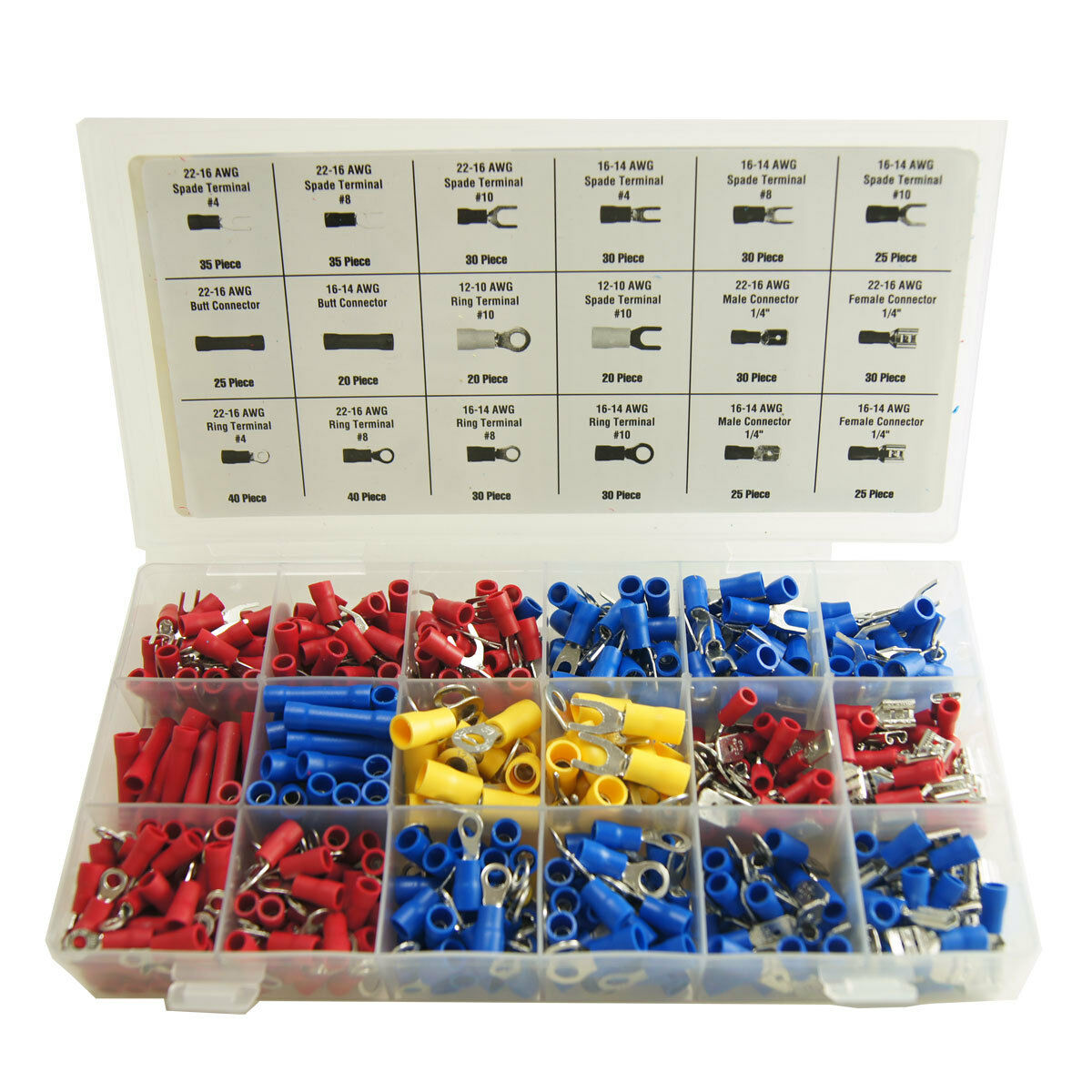 520 pc assorted wire connectors terminals kit - electrical ... buick ac wiring diagrams ac wiring terminal #11