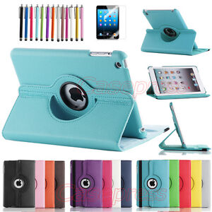 NEW-360-Degree-Rotating-PU-Leather-Case-Cover-w-Swivel-Stand-for-Apple-iPad-Mini