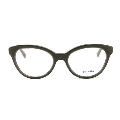 New Prada Eyeglasses VPR 11R UAM 101 Glossy BrownAcetate 50 17 140 Authentic