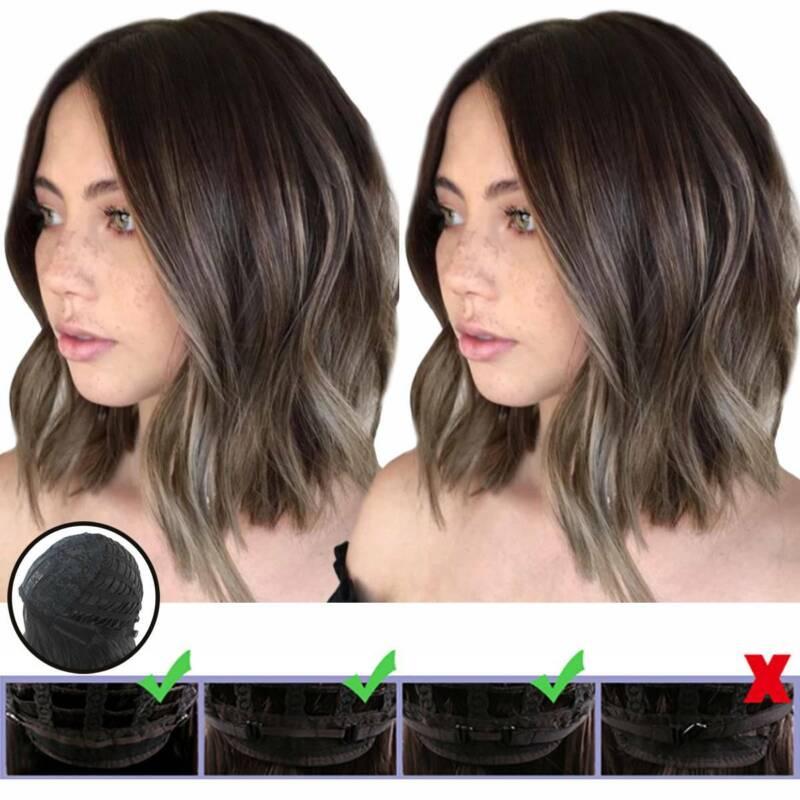 Ladies Bob Wavy Hair Short Curly/Straight Natural Party Cosplay Ombre Full Wigs Hair Care & Styling