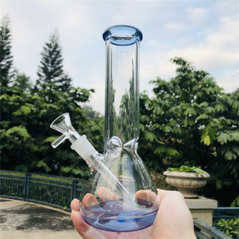 8inch Hookah Water Pipe Heavy Glass Bong Beaker Smoking Pipe w/ ICE Catcher SW
