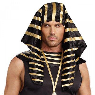Pharaoh Headdress Adult Mens Egyptian Costume Halloween Fancy Dress