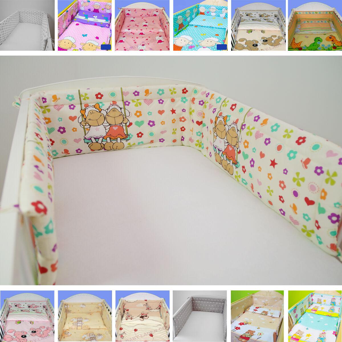 Nestchen Kopfschutz für Kinderbett 140x70 u. 120x60 Baby Bettnestchen Polsterung