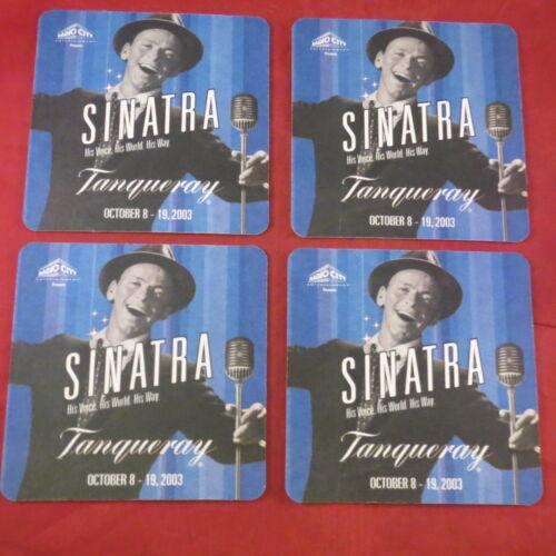RARE Radio City Frank Sinatra Tanqueray Gin Cardboard Coaster Lot of 4