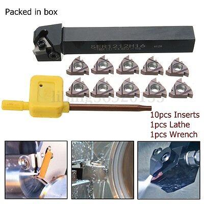 Ser1212h16 Lathe Boring Bar Turning Holder 10Pc Vp15tf 16Er Ag60 Carbide Inserts