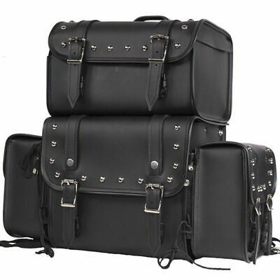 - Sissy Bar Bags Motorcycle Travel Luggage Removable  Bags Universal Fit Harley S