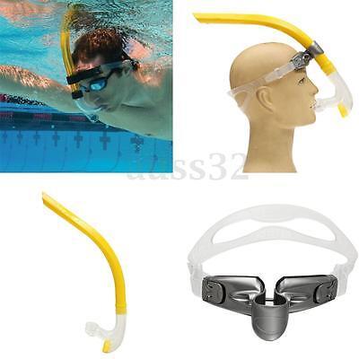 Flexible Silicone Swimming Training Snorkel For Center Swim 45cm/17.7'' Yellow !