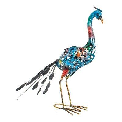 Solarleuchte Beet Deko Gartendekoration Metallfigur Tier (Pfau Dekoration)