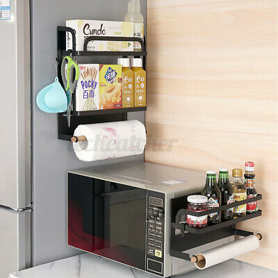 1/2-Ply Kitchen Rack Magnetic Refrigerator Storage Spice Holder Organizer Shelf