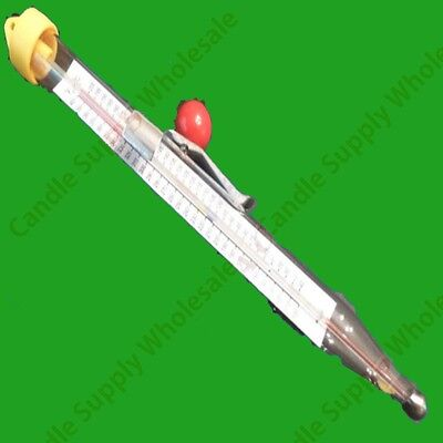 GLASS THERMOMETER FOR CANDLE/SOAP MAKING WITH CLIP  *** FREE SHIPPING***