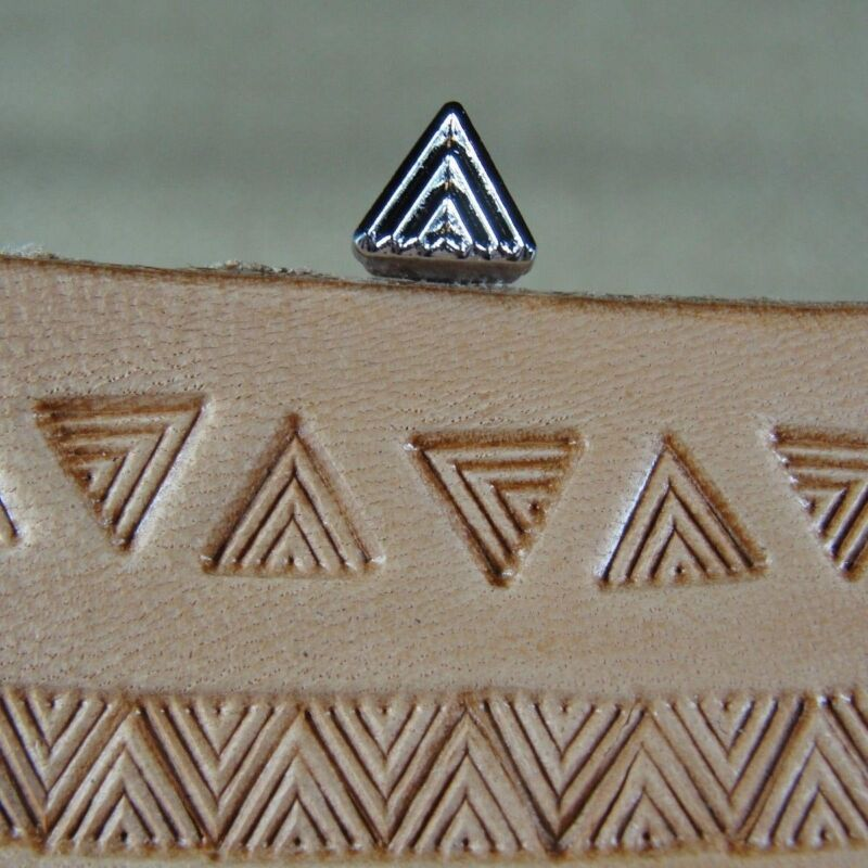 Craft Japan - #O30 Triangle Border Geometric Stamp (Leather Stamping Tool)