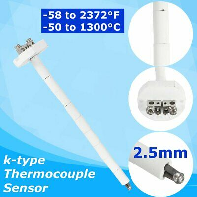Us High Temperature K-type Thermocouple Sensor Ceramic Kiln Furnace 2372f 1300