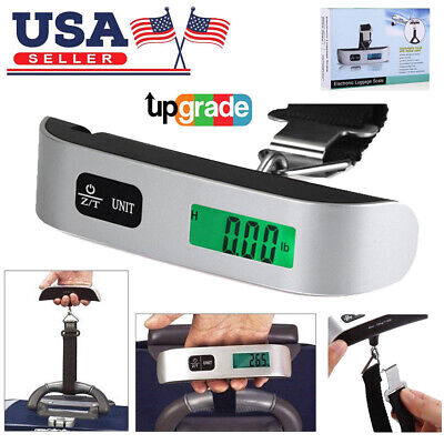 110lb / 50Kg Luggage Scale Digital LCD Portable Travel Weight Scale Hand-Grip US