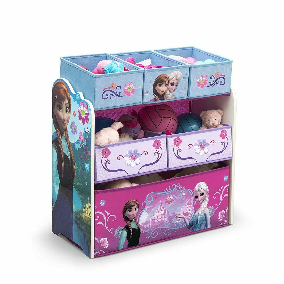 Girls Toy Box Frozen Elsa Organizer Kids Bedroom Storage Bin