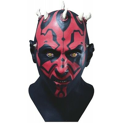Darth Maul Mask Adult Star Wars Costume Fancy Dress - Star Wars Mask