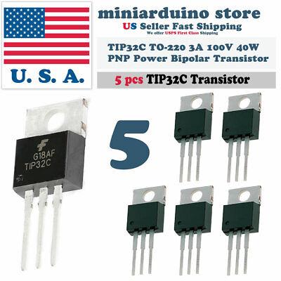 5pcs Tip32c Pnp 3a 100v Power Transistor To-220 Bipolar 40w