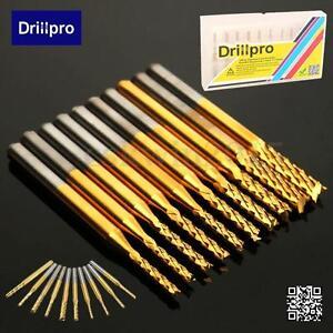 10-1-UNIDAD-Drillpro-Titanio-Abrigo-Carburo-1-5mm-3-175mm-Molino-De-Extremo