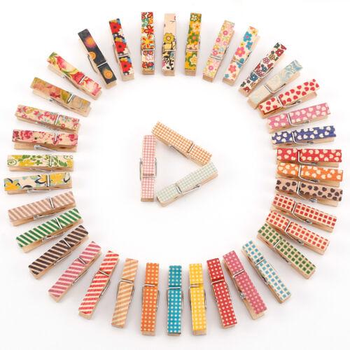 50/100 Pezzi 35mm Mollette Legno Misti Colori Disegno da Bucato Fotografia Foto