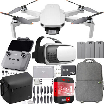 DJI Mini 2 Drone 4K Quadcopter Fly More Combo + Backpack & FPV Headset Bundle