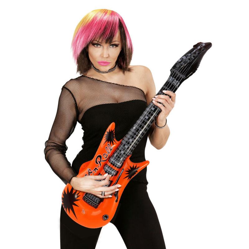 6er//Set Luftgitarre im Set verschiedene Farben aufblasbare Gitarre für Kinder