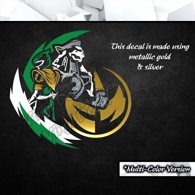 Power Ranger Decorations (Vinyl Decal Sticker (Green Car Power Laptop Ranger Decor PC)