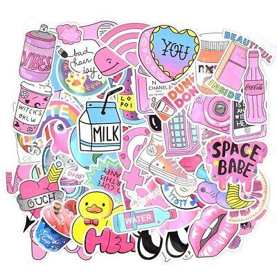 52 pcs Cute  Pink girl Series Stickers Waterproof  for Car USA saler (Scrap Book)