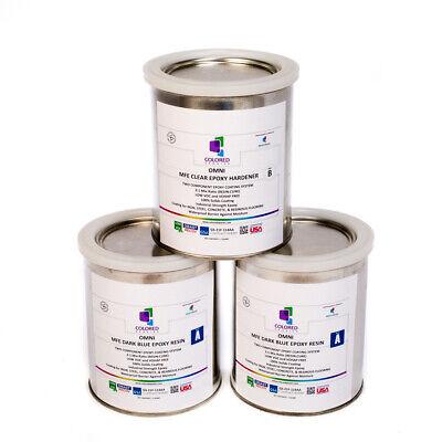 Dark Blue Epoxy Resin 100 Solids For Garage Floorsplywoodconcrete.3 Qt Kit