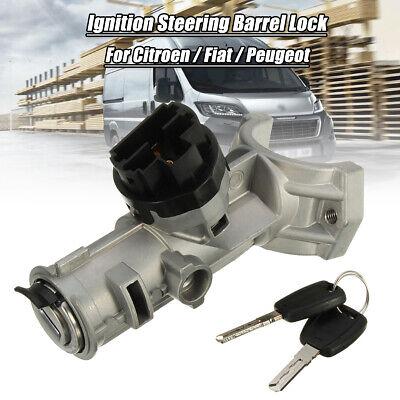 Ignition Barrel Lock Switch & 2 Keys For Peugeot Boxer Citroen Relay Fiat Ducato