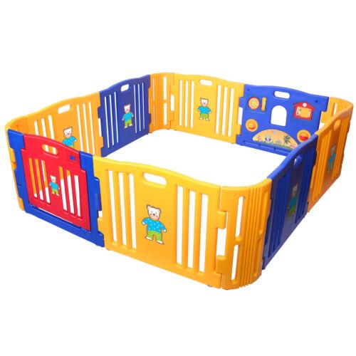 Baby Playpen Kid Safety Play Center Yard Home Indoor Outdoor Pen Plus