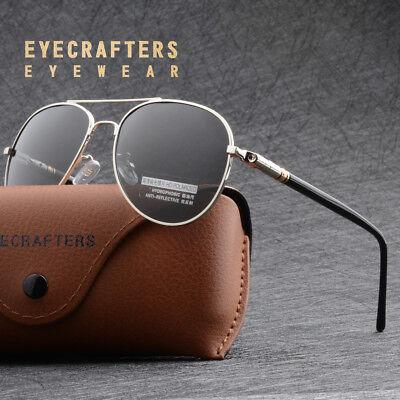 Aviator Brillen Herren 100% UV 400 Polarisiert Sonnenbrille Pilotenbrille