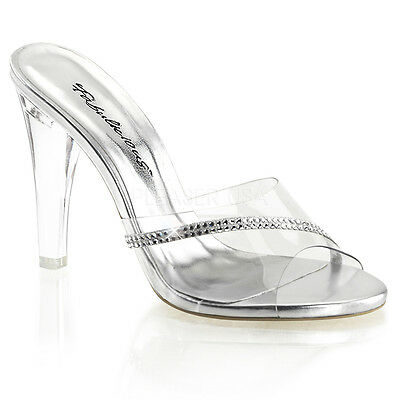 incess Heels Glass Slippers Rhinestones Shoes Womans 8 9 (Elsa Heels)