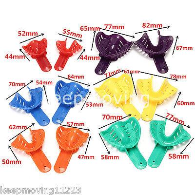 12 Pcs Dental Impression Tray Plastic 6 Sizes Autoclavable Lms Adultchild Ul