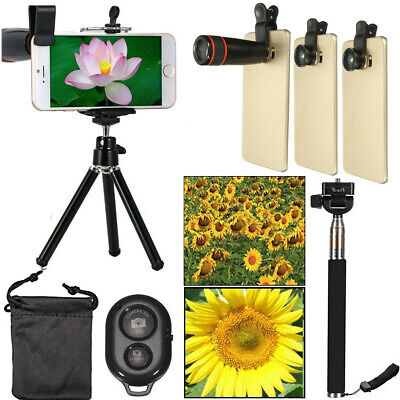 Universal Cell Phone 8x Zoom Lens Clip Optical Telescope Wide Angle Camera Kit
